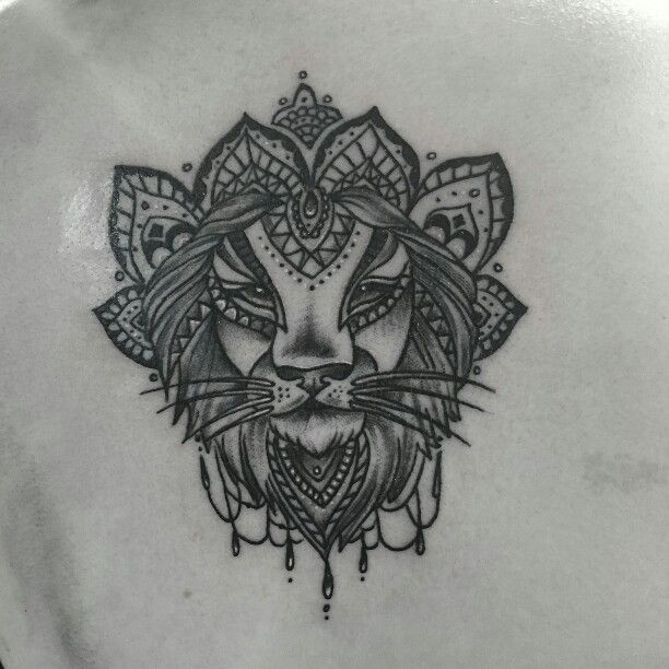 Lion Mandala Tattoo Mandala Lion Tattoo Tattoos Geometric Mandala Tattoo