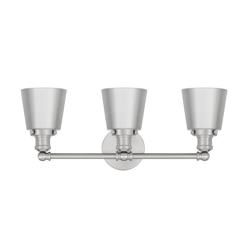 Photo of Quoizel UNIM8603 Union 3 Light 23″ Wide Bathroom Vanity Light Brushed Nickel Indoor Lighting Bathroom Fixtures Vanity Light