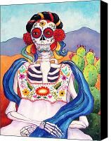 Mexican Mona Lisa Painting by Candy Mayer - Mexican Mona Lisa Fine Art Prints and Posters for Sale