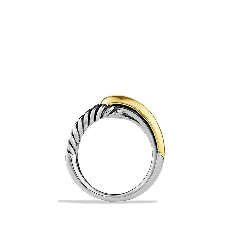 Labyrinth Single-Loop Ring with Gold