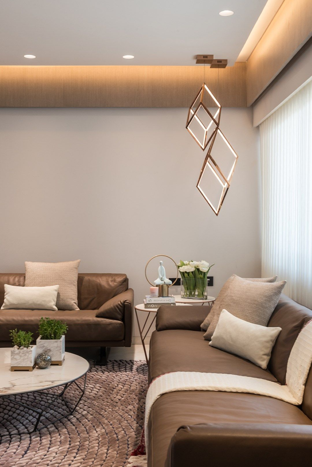 Simple Yet Luxurious Home Interiors Ceiling Design Living Room