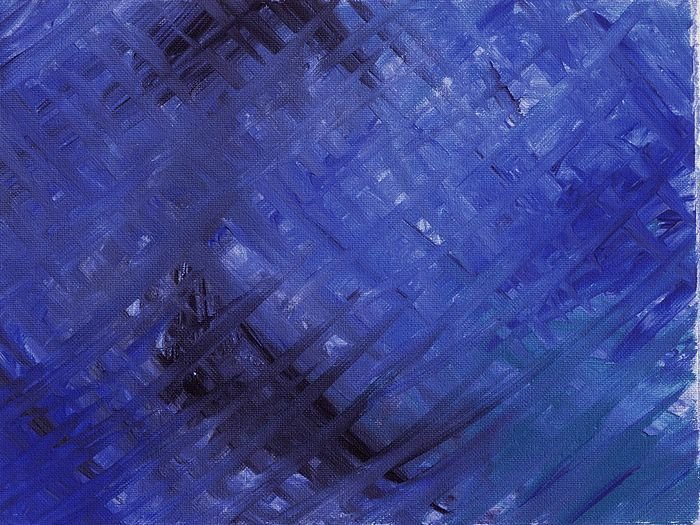 Abstract Expressionism : Color Field Pantings and  Brush Strokes Texture - Canvas Abstract Painting : Oil Painting in Blue Colors 1600-1680 ...