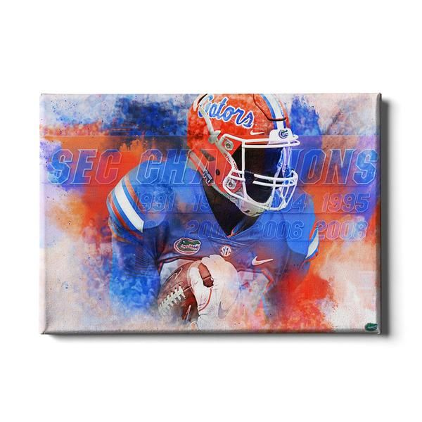 Florida Gators Sec Champs Wall Art Football Wall Art College Wall Art Wall Art Florida