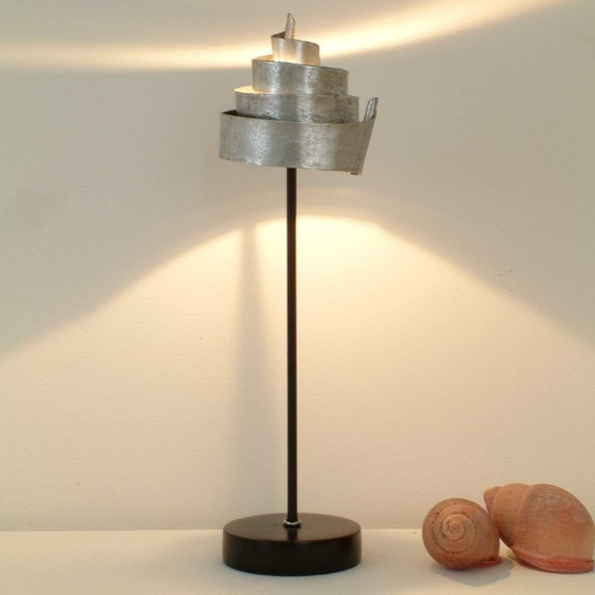 Tischleuchte Banderole Aus Eisen In Silber Led Lampen Wohnzimmer Lampen Kaufen Lampe Mit Batterie