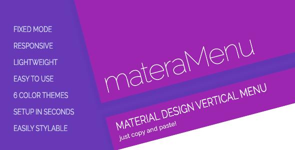 materaMenu - Responsive Material Vertical Menu   Code