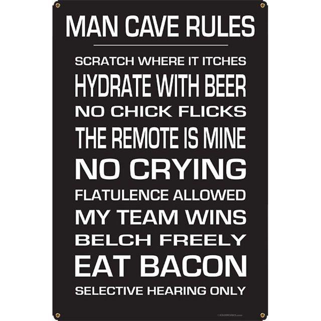 Man Cave Rules Metal Bar Sign Man Cave Rules Man Cave Rules Sign Man Cave