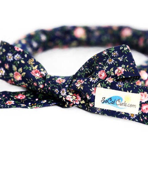 Navy FloralHair Curling Tie by SoCal Curls™