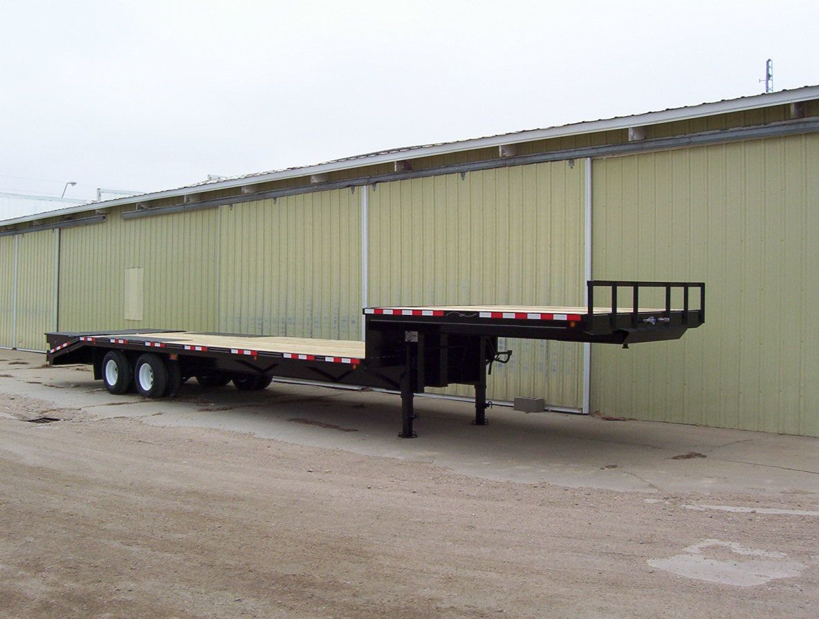 D K Trailers Flatbed Trailers Drop Deck King Pin Trailers