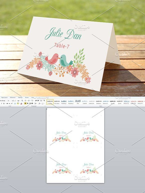 Wedding Place Card Template Wedding Card Templates $600 - wedding card template