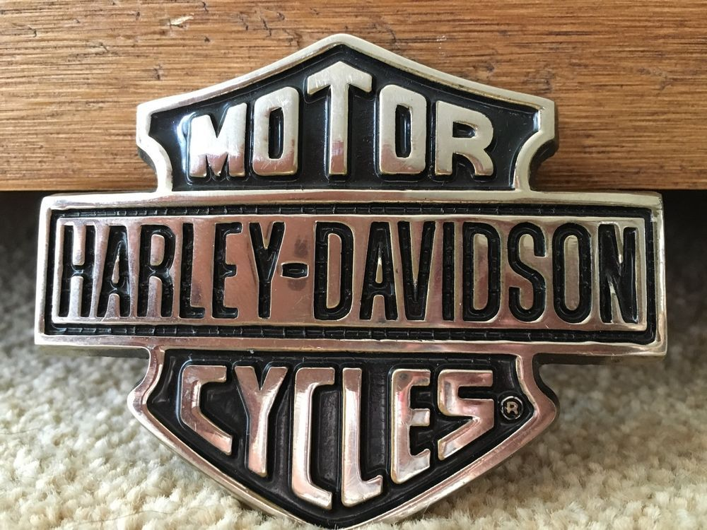 harley davidson 1991 baron solid brass h302 belt buckle ceinture pinterest accessoire moto. Black Bedroom Furniture Sets. Home Design Ideas