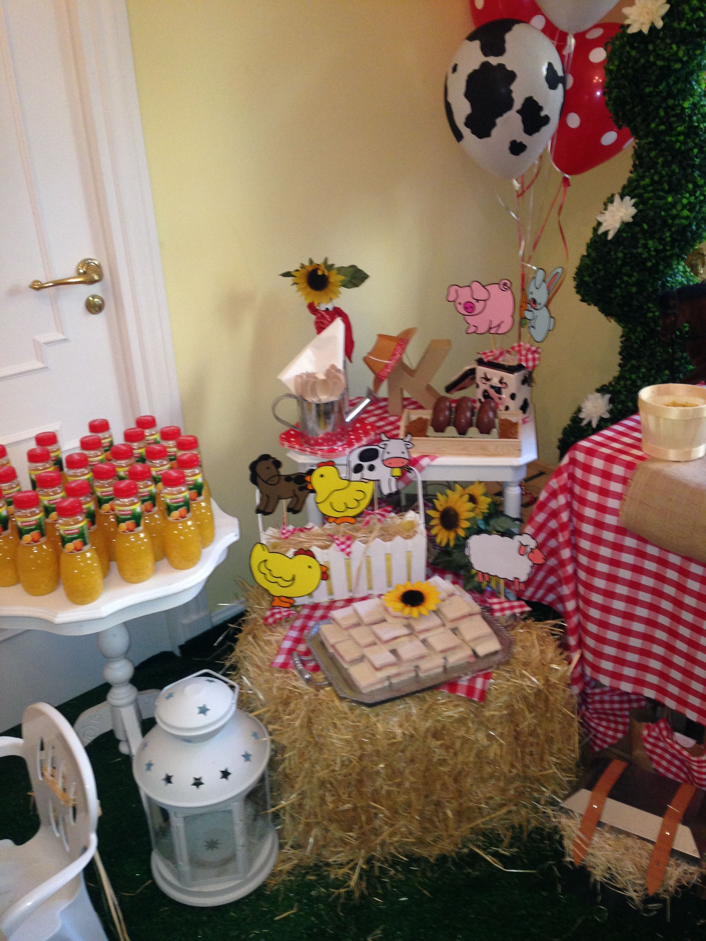 Mesa Infantil Para Merienda, Tem Tica Granja Sweets, Tarta, Candy