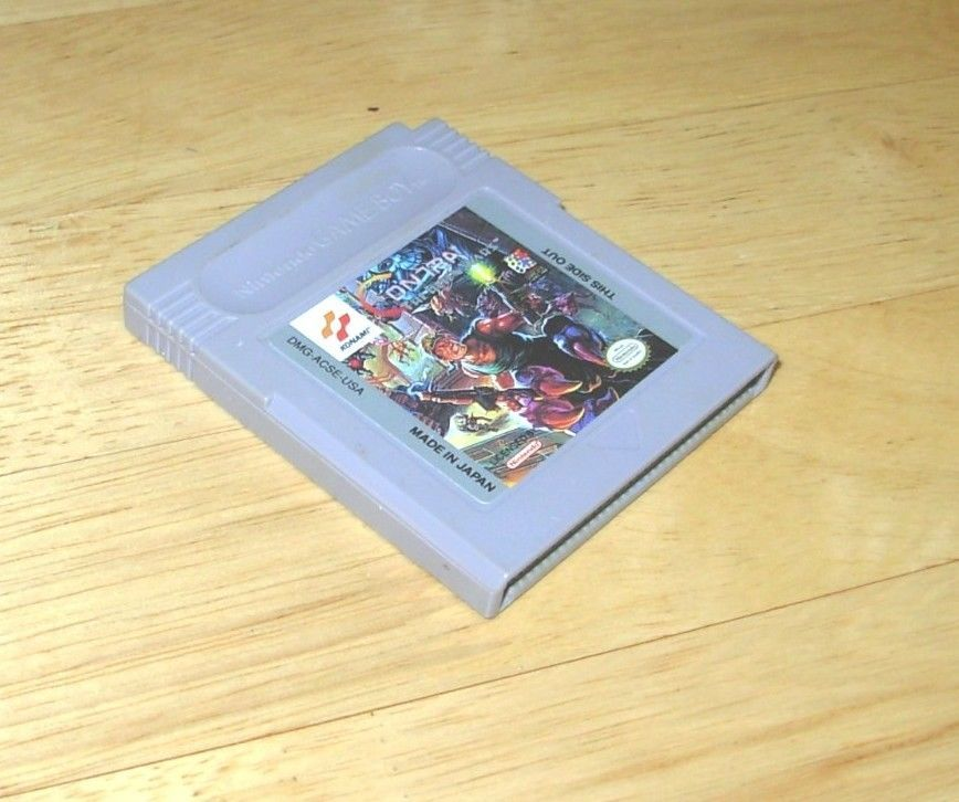 Original Gameboy Game Plays on GBC GBA SP CONTRA THE ALIEN WARS Off SNES Version