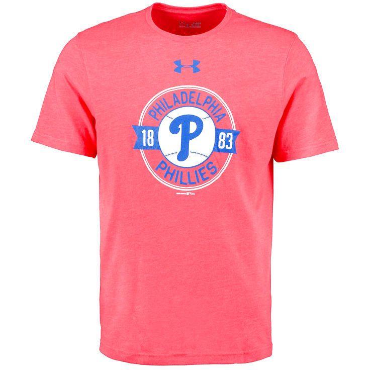 Philadelphia Phillies Under Armour Tri-Blend Performance T-Shirt - Red - $34.99