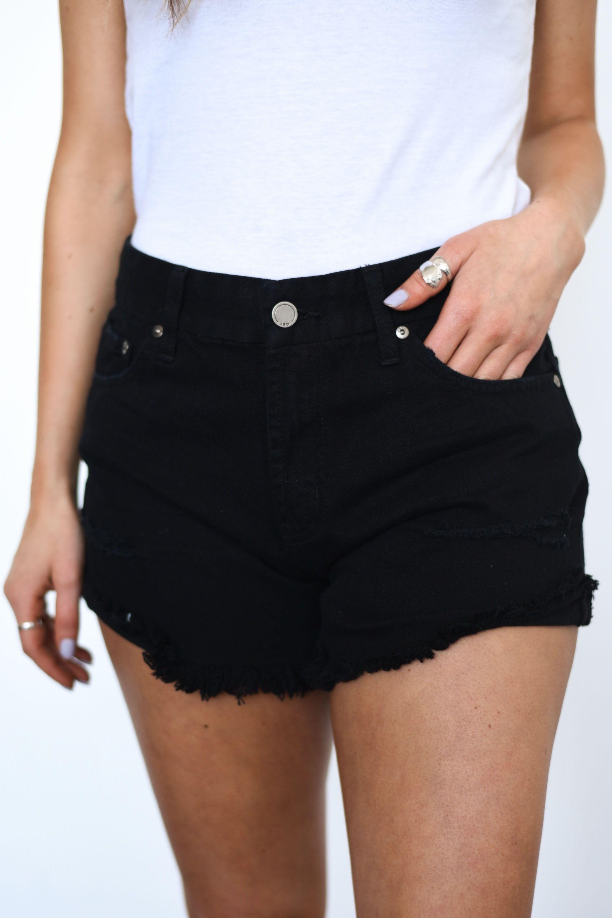 nuevo concepto 9e22c 02992 DOTTIE COUTURE BOUTIQUE    Black distressed denim shorts ...
