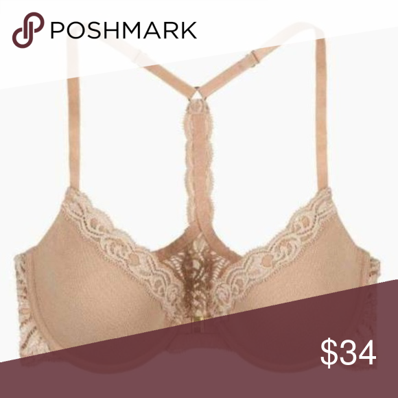 1fff5ce8e53 Natori Feather Front Close T-Back 735023 32DDD NEW Style  735023 Style  name  Feathers Lightly padded Underwire Adjustable
