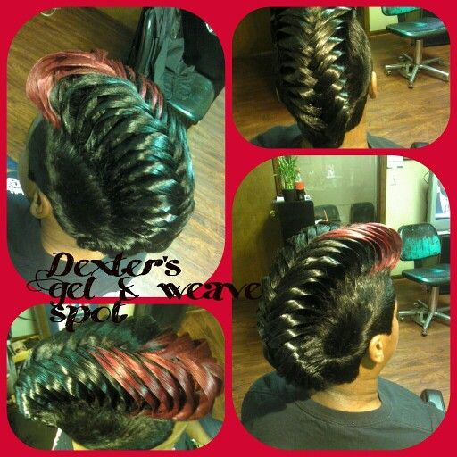 Fishtail pin up quickweave #27piecehairstyles