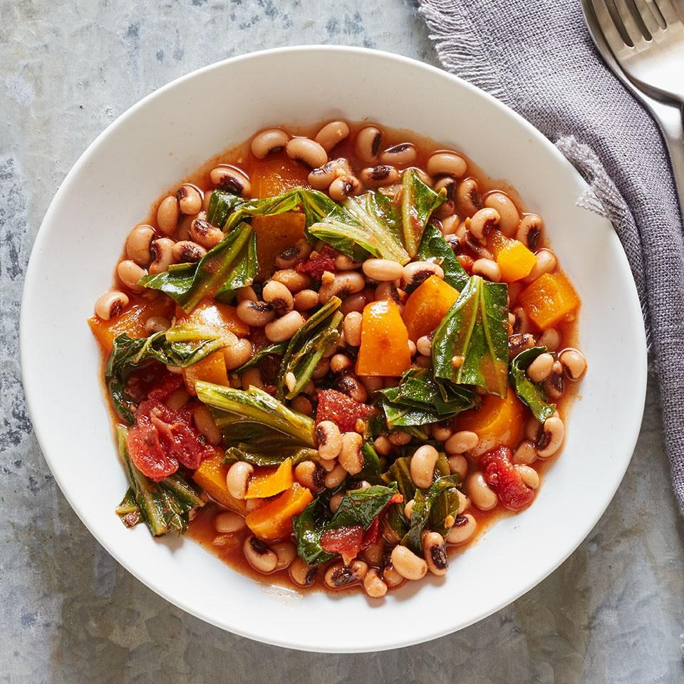 Hoppin' John with Orange Bell Peppers Recipe Food