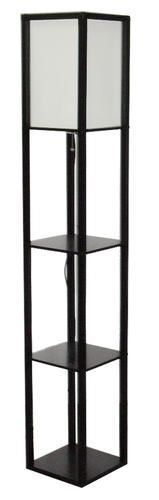 Patriot Lighting Daniel 62 5 H Matte Black Square Shelf Floor Lamp Floor Lamp With Shelves White Floor Lamp Square Shelf