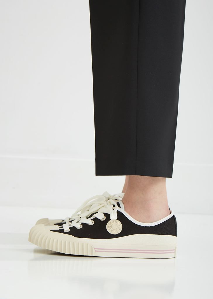 Lace Up Canvas Sneakers by Acne Studios