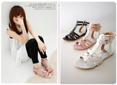 947a3296b6a NEW Womens Japanese Korean Fashion Style Gladiator Sandals Slippers Shoes  US6.5