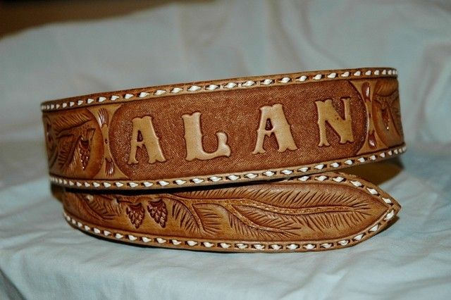 For some reason I have always had a little soft spot for men that wear belts with their name on them. Hehe.