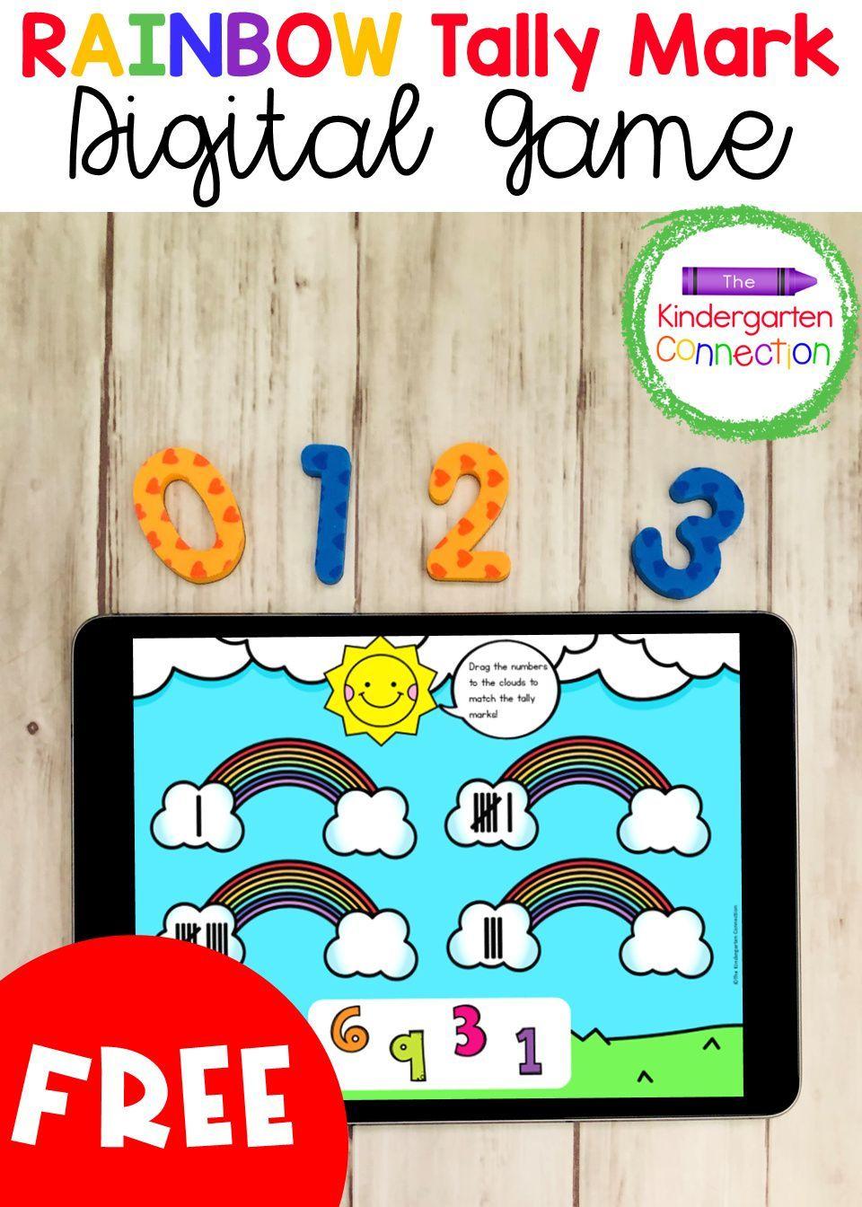 Rainbow Tally Marks Digital Learning Game Kindergarten Games Numbers Kindergarten Fun Math Centers [ 1344 x 960 Pixel ]
