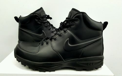 Nike ACG Manoa Leather Boots - Black/Black - Size: 11 [454350 003] https://t.co/dICw7qpEoL https://t.co/skCoc4wxKf