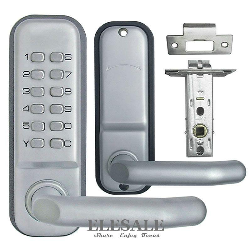 New Zinc Alloy Keyless Mechanical Door Lock Combination Digital Code Deadbolt Lock With Handle Non Power Lock Access Deadbolt Lock Door Locks Entry Door Locks