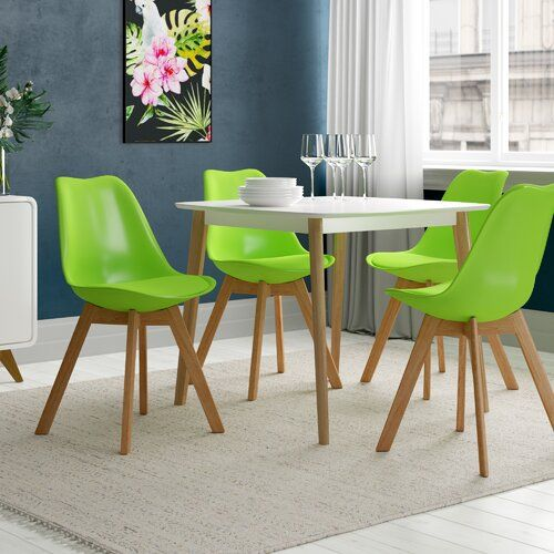 Preston Dining Chair 17 Stories Colour Apple Green Pack Size