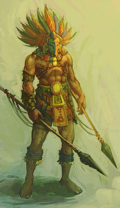 Aztec druida criar de raino cruz