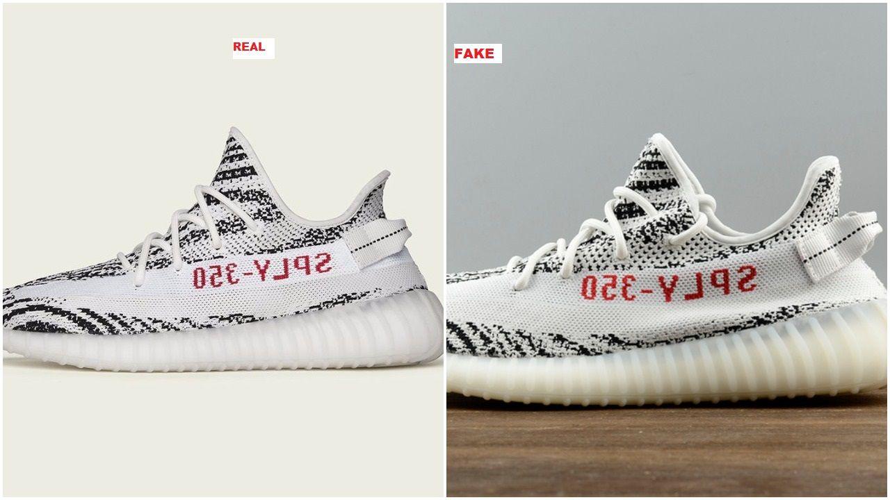 Dont get got fake adidas yeezy boost 350 v2 zebra