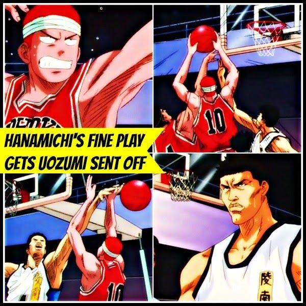 Genius Hanamichi Sakuragi's Fine Play Gets Ryonan's