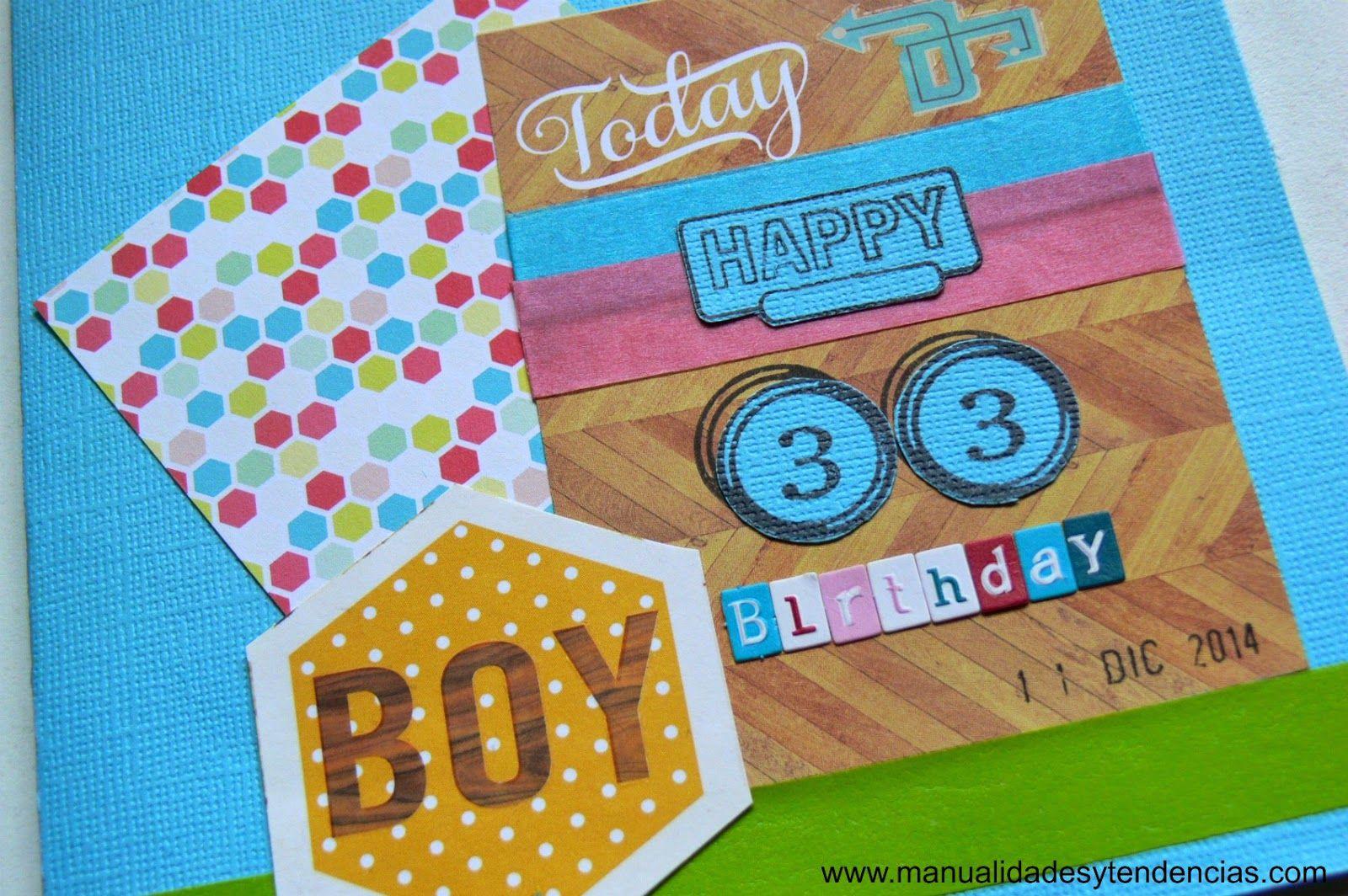 Tarjeta de cumpleaños para chico DIY, manualidades Pinterest