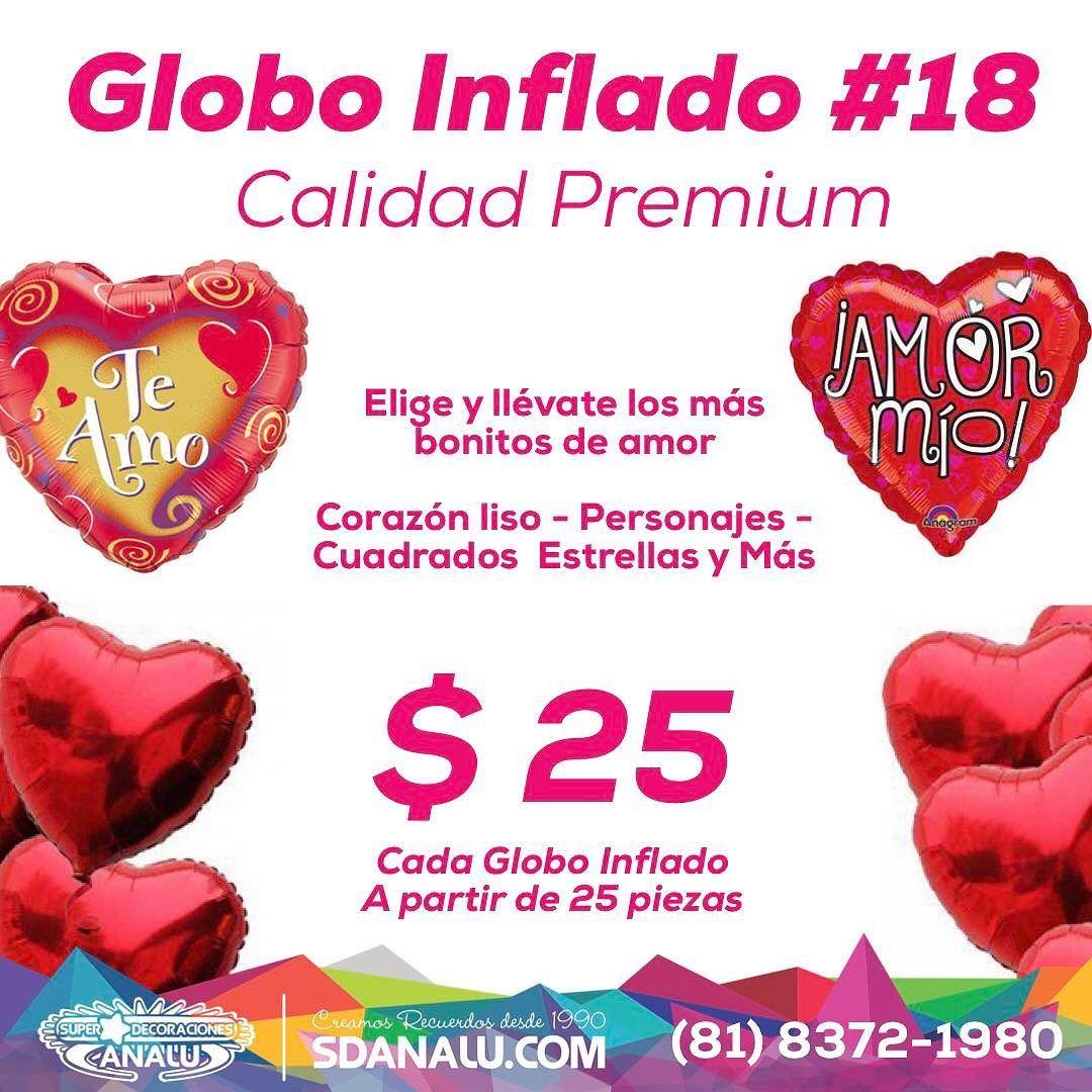 Globo Inflado con gas Helio #18 al increíble precio de $25 @sdanalu