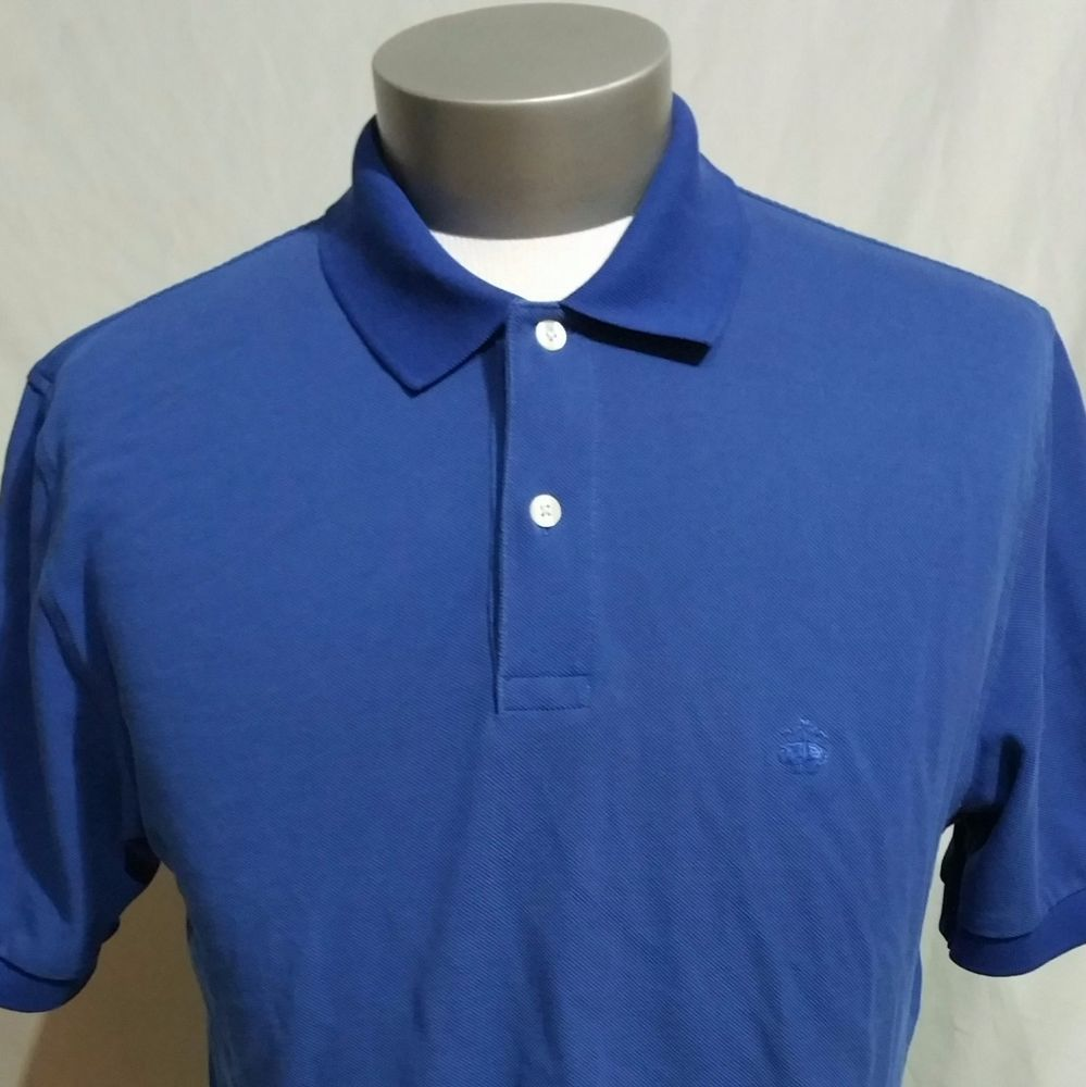Brooks Brothers Performance Polo Mens M Blue Shirt Sheep Logo
