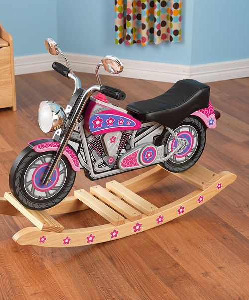 Take a look at the Flower Power Motorcycle Rocker on #zulily today!