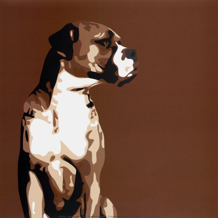 Boxer Art Poster Print by Emily Burrowes, 12x12 #DoesnotApply