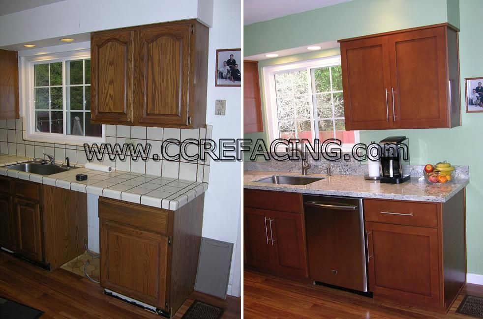 Project Location: Pacifica, Ca Project Details: Reface Cabinets With Wood  Species: Hard