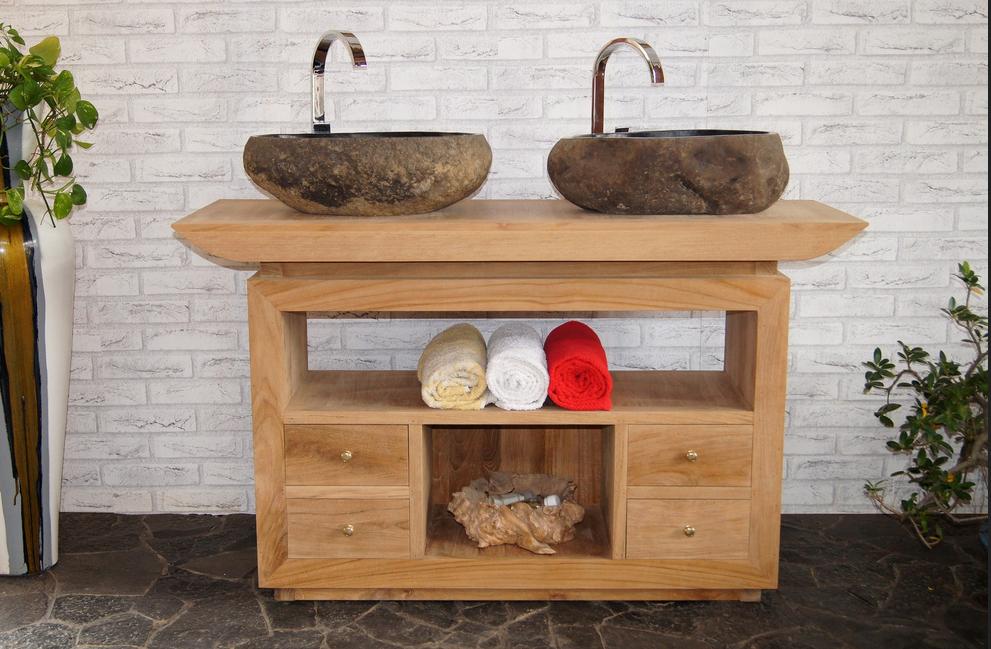 Badezimmer Unterschrank Holz Badezimmer Mit Armaturen Hergestellt