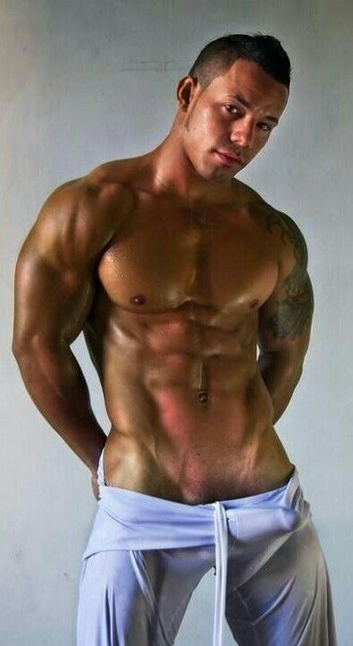 Yummy hunk shows his body