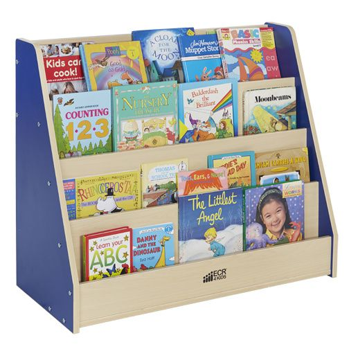 Elr 0719 Colorful Essentials Big Book Display Stand Red Or Blue Book Display Stand Book Display Kids Bookcase
