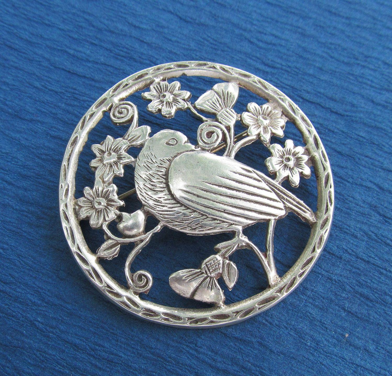 Sterling Silver Brooch Vintage
