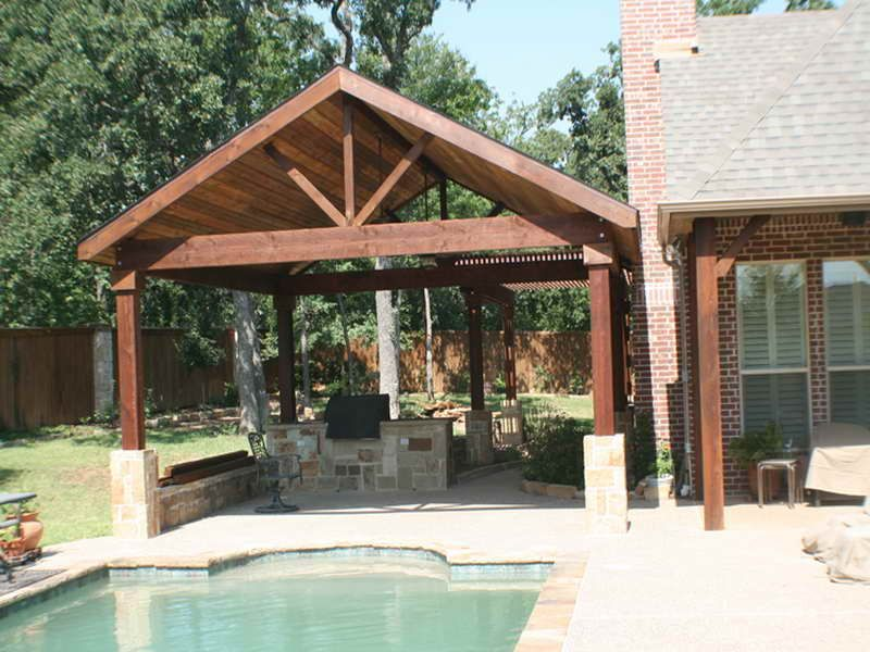 superior detached covered patio plans #2: Covered Patio Designs | Covered Patio Designs With Pool