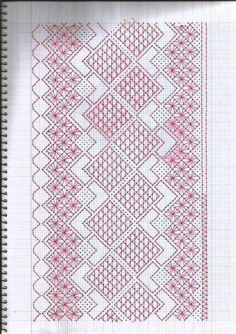 Resultado de imagen para hardanger patrones gratis | abanico para ...