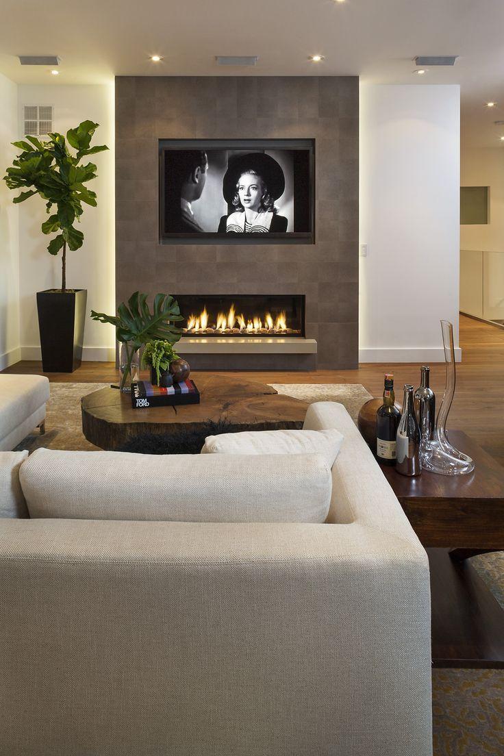 Modernes Wohnzimmer und Kamin - Wohnzimmer ideen  Home fireplace