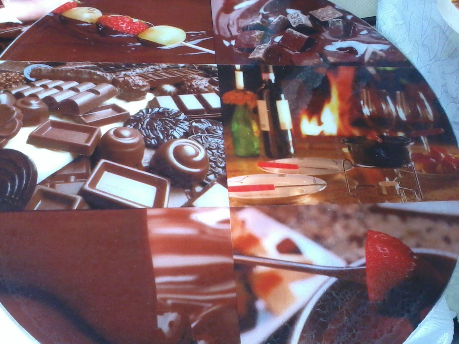 Pratos Giratórios Personalizados. Chocolate ! R$ 80,00 pequeno R$ 100,00 grande