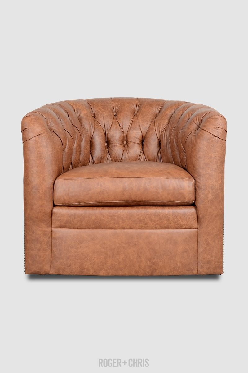 Superbe Oliver Tufted Barrel Chair From Roger + Chris