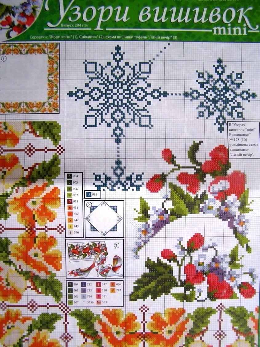 Uz 10 Cross Stitch Ukrainian Embroidery Pattern Tablecloth Napkin Vyshyvanka Cross Stitch Cross Stitching Cross Stitch Flowers