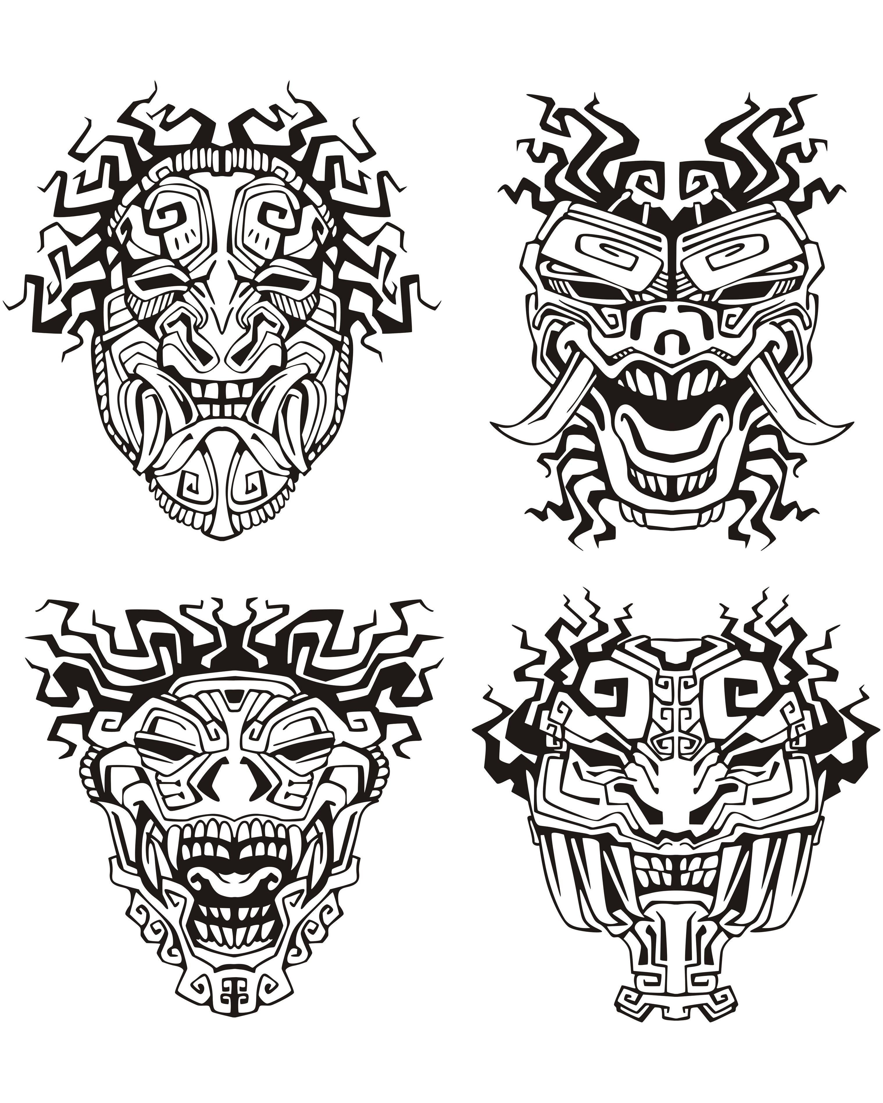 Masques Inspiration Inca Maya Aztequea Partir De La
