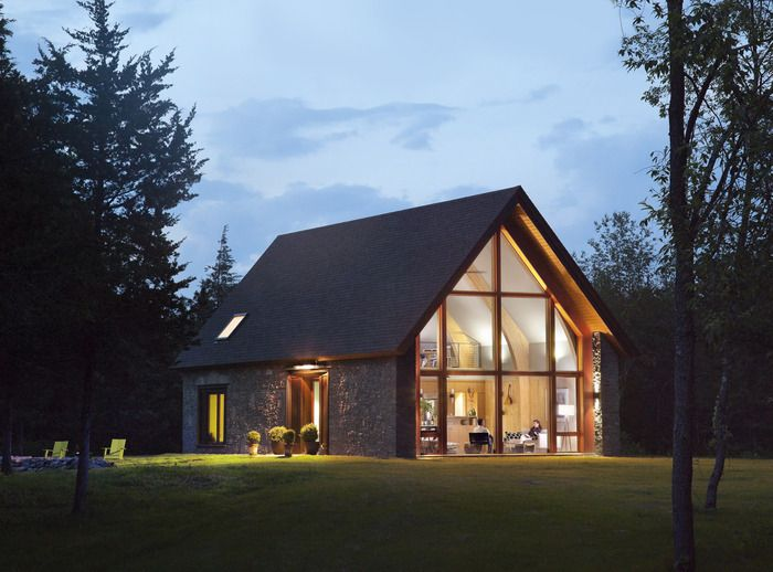 Bold comfort farm open floor lofts and lakes for Modern barn design